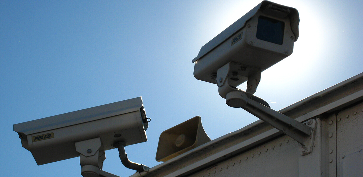 Surveillance camera at Budget Self Storage Storage